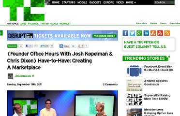 http://techcrunch.com/2011/09/18/founder-office-hours-have-to-have/