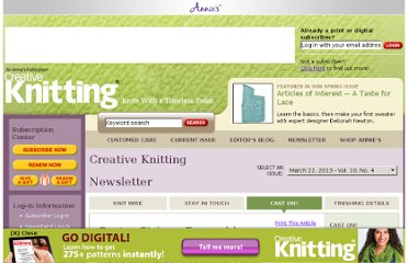 http://www.creativeknittingmagazine.com/newsletters.php?mode=issue&issue_id=18&department_id=10