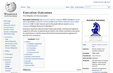 http://en.wikipedia.org/wiki/Executive_Outcomes
