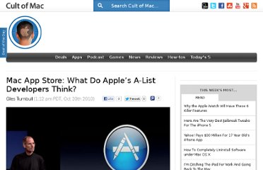 http://www.cultofmac.com/64859/mac-app-store-what-do-developers-think/