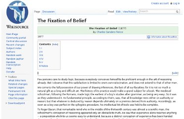 http://en.wikisource.org/wiki/The_Fixation_of_Belief