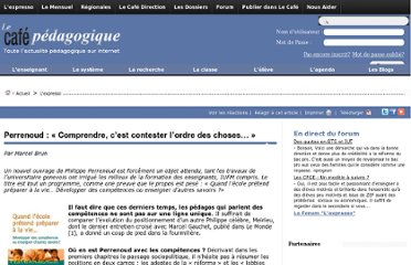http://www.cafepedagogique.net/lexpresso/Pages/2011/09/190911Perrenoud.aspx