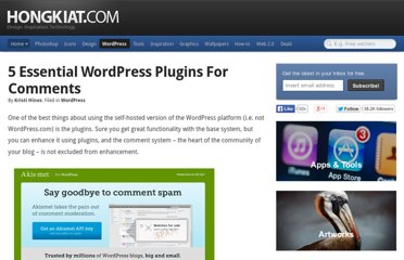 http://www.hongkiat.com/blog/essential-wordpress-comments-plugins/