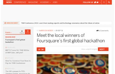 http://thenextweb.com/events/2011/09/19/meet-the-local-winners-of-foursquares-first-global-hackathon/