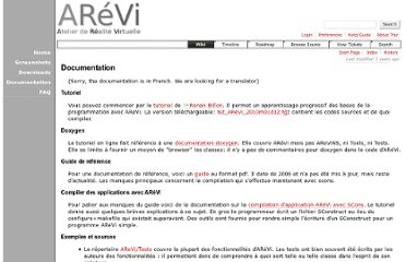 http://svn.cerv.fr/trac/AReVi/wiki/Documentation