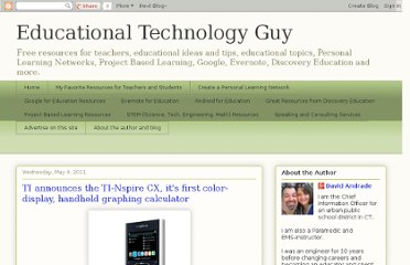 http://educationaltechnologyguy.blogspot.com/2011/05/ti-announces-ti-nspire-cx-its-first.html