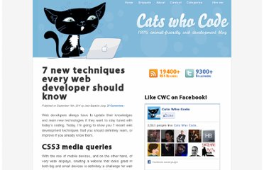 http://www.catswhocode.com/blog/7-new-techniques-every-web-developer-should-know