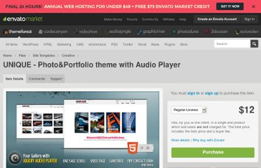 http://themeforest.net/item/unique-photoportfolio-theme-with-audio-player/498591