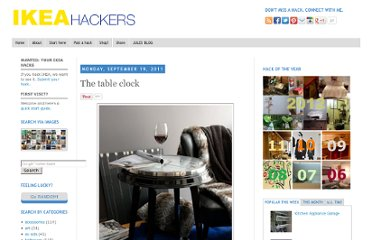 http://www.ikeahackers.net/2011/09/table-clock.html