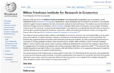 http://en.wikipedia.org/wiki/Milton_Friedman_Institute_for_Research_in_Economics