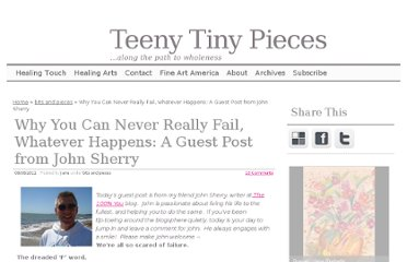 http://www.teenytinypieces.com/2011/08/08/why-you-can-never-really-fail-whatever-happens-a-guest-post-from-john-sherry/