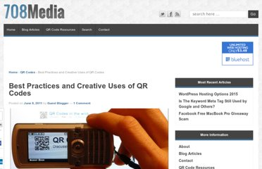 http://www.708media.com/qrcode/best-practices-and-creative-uses-of-qr-codes/