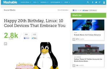 http://mashable.com/2011/09/17/happy-20th-birthday-linux/#2623910-SelfDriving-Car