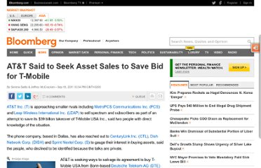 http://www.bloomberg.com/news/2011-09-18/at-t-said-to-approach-smaller-rivals-to-sell-assets-save-bid-for-t-mobile.html