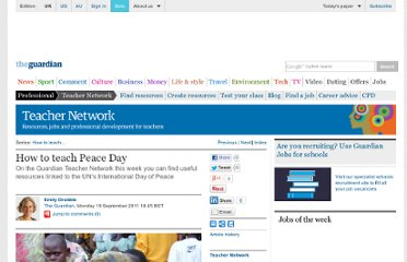 http://www.guardian.co.uk/education/2011/sep/19/guardian-teacher-network-peace-day