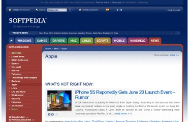 http://news.softpedia.com/cat/Apple/