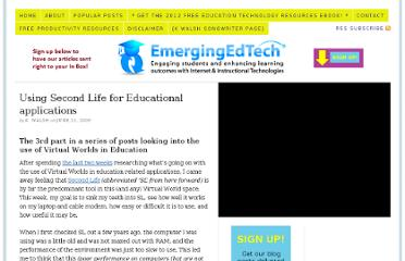 http://www.emergingedtech.com/2009/06/using-second-life-for-educational-applications/
