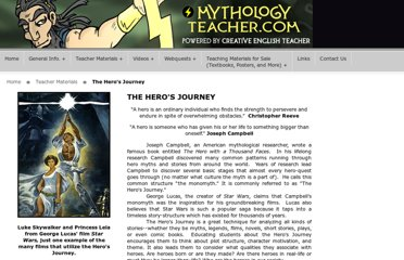 http://www.mythologyteacher.com/The-Hero%27s-Journey.php