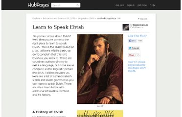 http://masterman535.hubpages.com/hub/Learn-to-Speak-Elvish