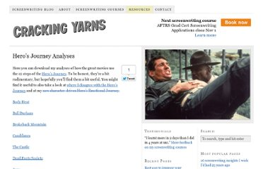 http://www.crackingyarns.com.au/screenwritingresources/heros-journey-analyses/
