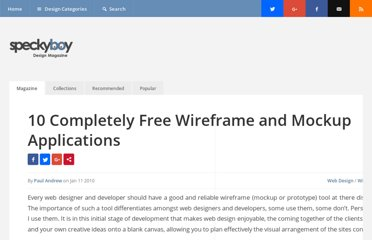 http://speckyboy.com/2010/01/11/10-completely-free-wireframe-and-mockup-applications/