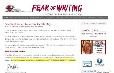 http://fearofwriting.com/blog/