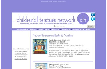 http://www.childrensliteraturenetwork.org/books/newbooks/booksnew.php