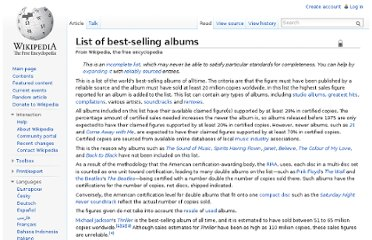 http://en.wikipedia.org/wiki/List_of_best-selling_albums#Best-selling_albums_by_country