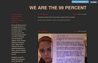 http://wearethe99percent.tumblr.com/