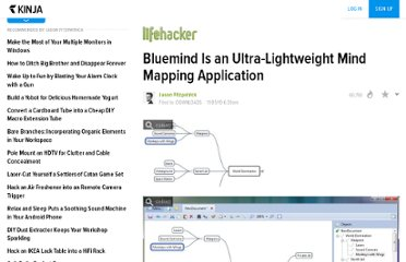 http://lifehacker.com/5681892/bluemind-is-an-ultra+lightweight-mind-mapping-application