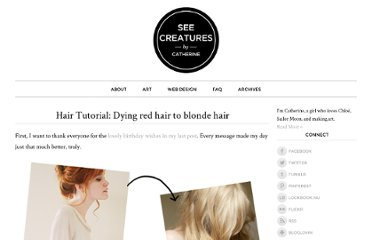 http://seecreatures.com/2011/06/tutorial-dyeing-red-hair-to-blonde-hair/