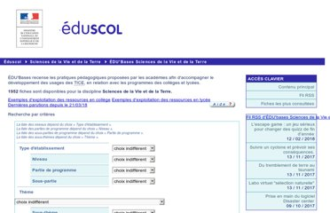 http://eduscol.education.fr/bd/urtic/svt/index.php