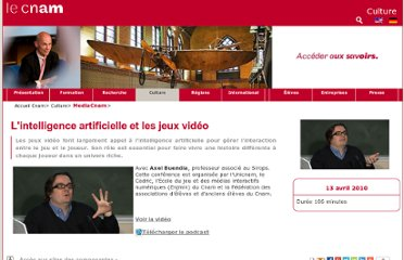 http://media.cnam.fr/l-intelligence-artificielle-et-les-jeux-video-289400.kjsp