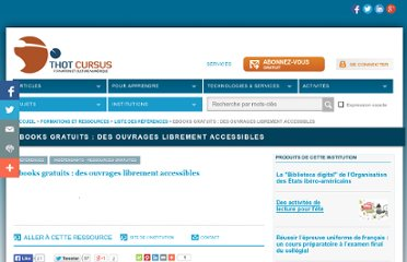 http://cursus.edu/institutions-formations-ressources/formation/11264/ebooks-gratuits-des-ouvrages-librement-accessibles/