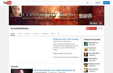 http://www.youtube.com/user/Converted2Islam