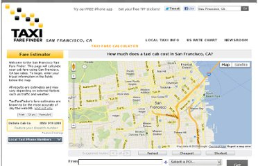 http://www.taxifarefinder.com/main.php?city=SF