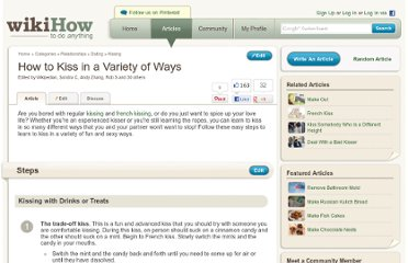 http://www.wikihow.com/Kiss-in-a-Variety-of-Ways