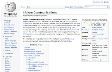 http://en.wikipedia.org/wiki/Iridium_Communications