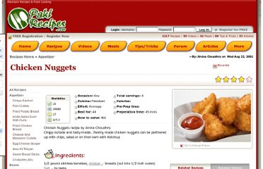 http://www.pakirecipes.com/recipe/Chicken-Nuggets