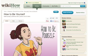 http://www.wikihow.com/Be-Yourself