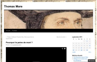 http://thomasmore.wordpress.com/2011/09/21/contre-la-peine-de-mort/