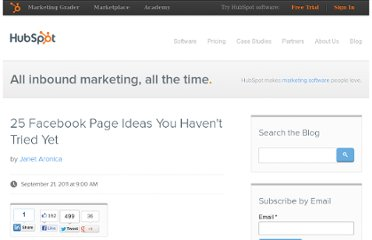 http://blog.hubspot.com/blog/tabid/6307/bid/23963/25-Facebook-Page-Ideas-You-Haven-t-Tried-Yet.aspx
