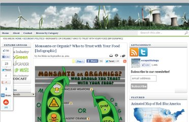 http://ecopolitology.org/2011/09/21/monsanto-or-organic-who-to-trust-with-your-food-infographic/