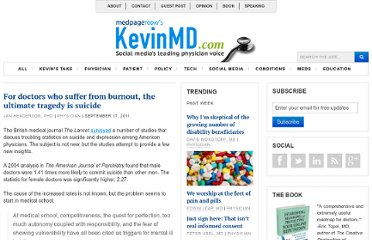 http://www.kevinmd.com/blog/2011/09/doctors-suffer-burnout-ultimate-tragedy-suicide.html