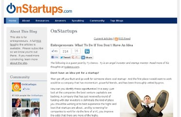 http://onstartups.com/tabid/3339/bid/58691/Entrepreneurs-What-To-Do-If-You-Don-t-Have-An-Idea.aspx