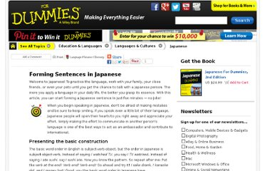 http://www.dummies.com/how-to/content/forming-sentences-in-japanese.html