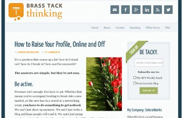 http://www.brasstackthinking.com/2010/07/how-to-raise-your-profile-online-and-off/
