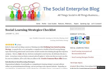 http://dwilkinsnh.wordpress.com/2010/01/12/social-learning-strategies-checklist/
