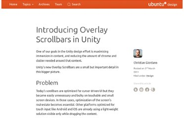 http://design.canonical.com/2011/03/introducing-overlay-scrollbars-in-unity/