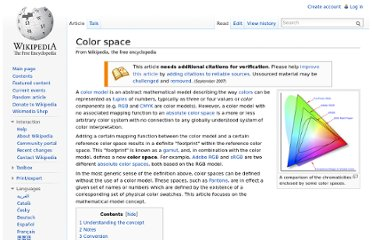 http://en.wikipedia.org/wiki/Color_space
